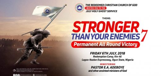 RCCG JULY 2019 HOLY COMMUNION SERVICE - THEME: SWIMMING IN GLORY