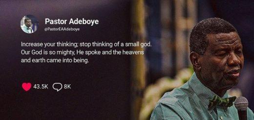 wonders of His abilities pastor adeboye